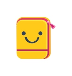 Folder with zip primitive icon smiley face vector