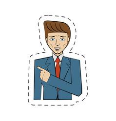 cartoon man avatar image vector image
