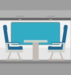 Passenger train inside flat style vector