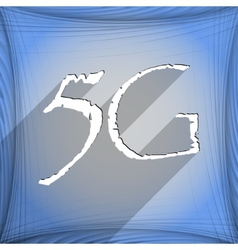 5g icon symbol flat modern web design with long vector