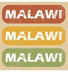 Vintage malawi stamp set vector