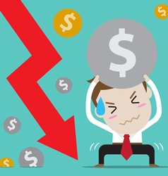Businessman with bad finance vector
