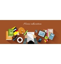 Home education flat design concept vector