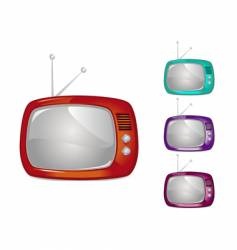 retro television illustration global swatche vector image