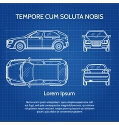 Car blueprint vector