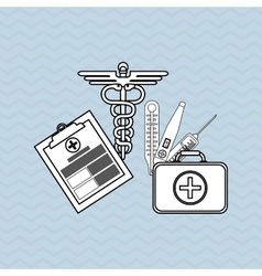 Medical history design vector