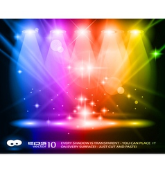 Spotlights on Stage vector image
