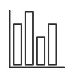bars statictics isolated icon design vector image
