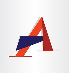 Abstract character letter a typography vector