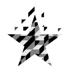abstract geometric star isolated on white vector image