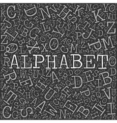 Alphabet theme with letter pattern on the vector image vector image