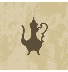 Arab coffee pot vector