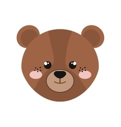 bear isolated icon design vector image vector image