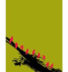 birds77-2v vector image vector image