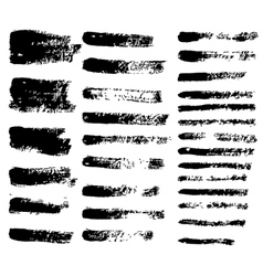 black grunge brushes vector image vector image