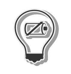 Bulb battery recharge design vector