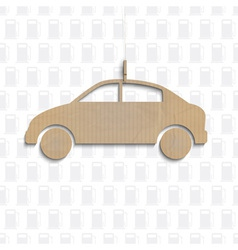 Car cut out of cardboard vector image vector image
