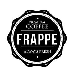 Coffee frappe vintage stamp vector