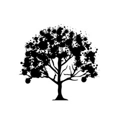 contour trees with some leaves icon vector image vector image