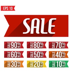 Discount tag flat and long shadow design - - vector image vector image