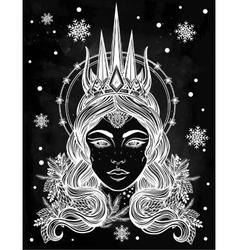 Fantasy snow queen vector