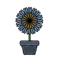 Flower in a pot vector