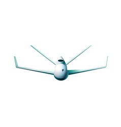 front view of drone of flying vector image vector image
