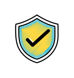 grated shield security protection web symbol vector image