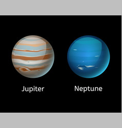 high quality jupiter galaxy astronomy neptune vector image vector image