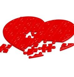 jigsaw heart2 vector image vector image