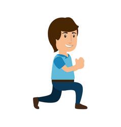 man cute cartoon vector image