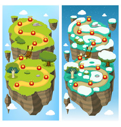 Mobile game level map concept vector