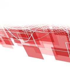 Modern red geometric background vector image vector image