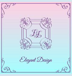 monogram design template vector image vector image