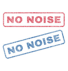No noise textile stamps vector