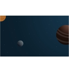 Planet space beauty vector
