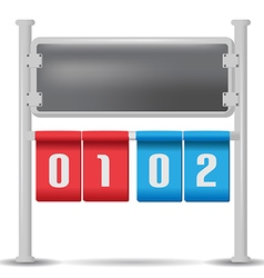 Score Board Analog Isolate Design vector image vector image