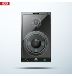 Sound Load speakers Dynamics inside a mobile phone vector image vector image
