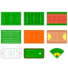 Sport fields can be used for demonstration vector
