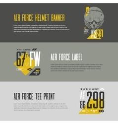 Us aircraft tee print vector