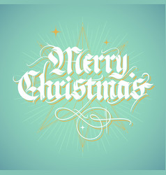 Vintage calligraphic christmas card vector