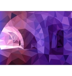 Abstract blue and violet triangular background vector