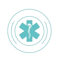Medical asclepius rod icon vector