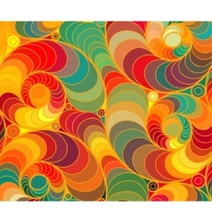 Wave background of doodle hand drawn lines vector
