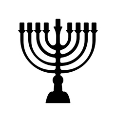 Menorah symbol of judaism isolated vector