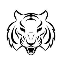 Tiger icon isolated on a white background tiger vector