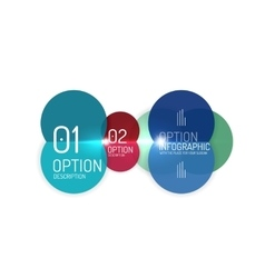 Business infographics option select vector