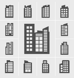 Icons building set vector