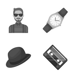 Hipster fashion style subculture hipster style vector