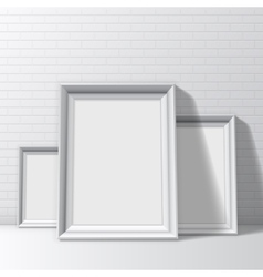 Blank white pictures frames vector